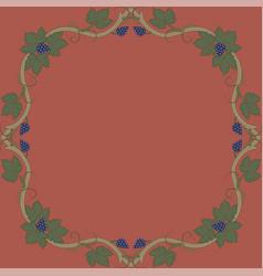 medieval floral frame vector image