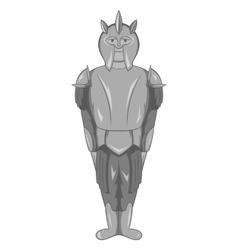 Medieval warrior icon black monochrome style vector