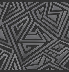 metal maze pattern vector image