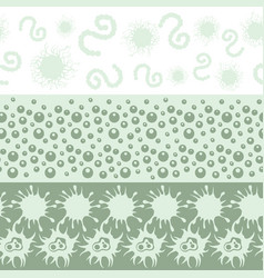 microbes and bacteria seamless border collection vector image