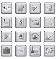 monochrome icons set vector image