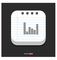 music sound wave icon gray icon on notepad style vector image