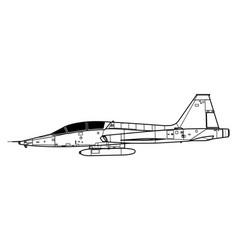 Northrop t-38 talon vector