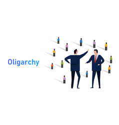 Oligarchy power structure power in small number vector