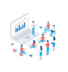 online webinar training e-learning concept vector image