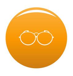 optical eyeglasses icon orange vector image