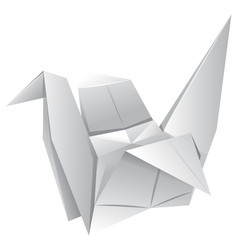 origami art with paper bird vector image