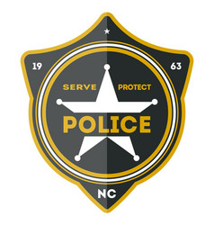 police department badge icon vector image