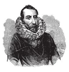 Portrait of christopher columbus vintage vector
