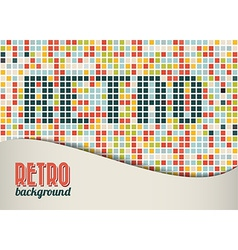 Retro background template vector