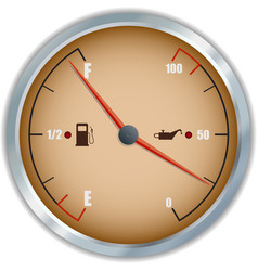 Retro fuel and oil gauge icon vector image