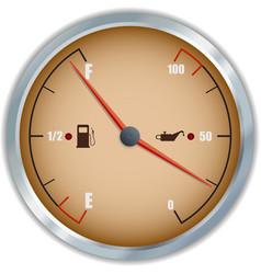 Retro fuel and oil gauge icon vector