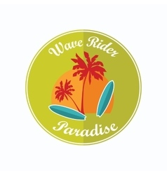 Retro surfing typographical poster with place for vector image