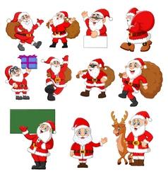 santa claus cartoon collection vector image