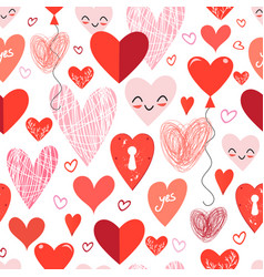 seamless holiday pattern with different loving vector image