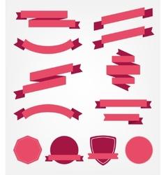 Set empty retro ribbons vector