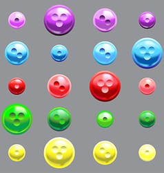 Set of glossy button vector image