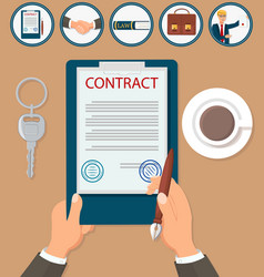 Signing contract certification vector