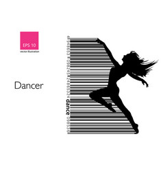 Silhouette of a dancing girl dancer woman vector