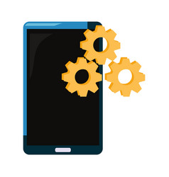 smartphone gears setting vector image