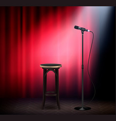 Stand up show realistic vector