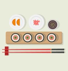Sushi platter vector