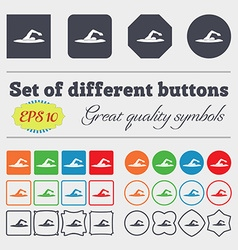 swimmer icon sign Big set of colorful diverse vector image