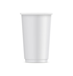 Tall paper disposable cup mock up isolated vector