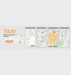 taxi mobile application vector image