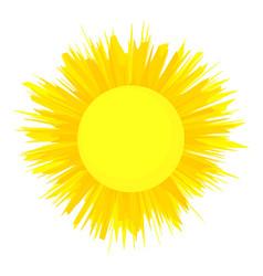 The sun is shining icon cartoon style vector