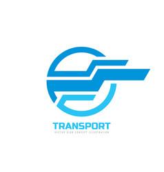 transport - logo concept vector image