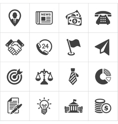 Trendy business and economics icons set 1 vector image