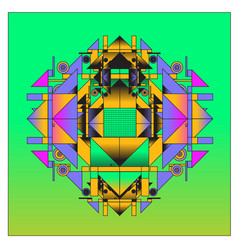 Trendy geometrical kaleidoscope with abstract vector