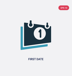 two color first date icon from user interface vector image