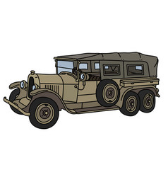 Vintage military long convertible vector