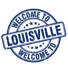Welcome to louisville blue round vintage stamp vector