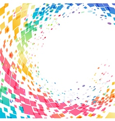 Abstract multicolored circle background vector image vector image