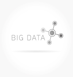 Big data abstract molecule vector image vector image