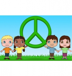 children and peace vector image vector image