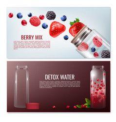 detox beverages horizontal banners vector image
