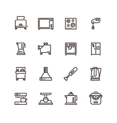 kitchen and cooking appliances household vector image