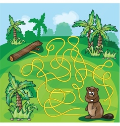 Labyrinth maze for kids vector image