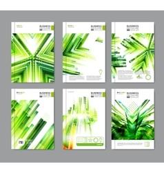 Modern green brochure design vector image