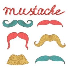 Stylish retro mustaches set vector image vector image