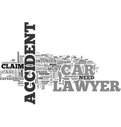 when should you instruct a car accident lawyer vector image vector image
