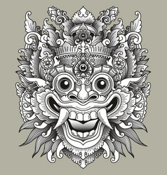 Balinese barong traditional mask vector