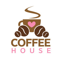 coffee house cafeteria or cafe icon vector image vector image