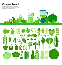 Green healthy food on the table vector image