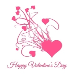 Happy valentines day Explode of pink heart vector image vector image