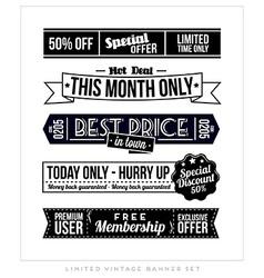 Retro Vintage Typographic Business Banner Design vector image